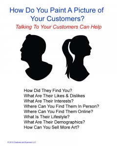 Think of customer research as a way to help you paint a picture of your customer and grow your art business!