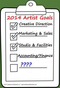 2014 Artist Goal clipboard