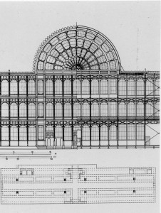 Architectural Plan for Crystal Palace