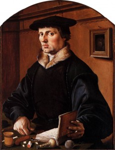 Painting of accountant