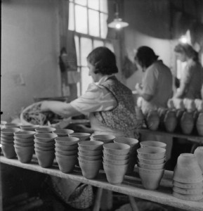Inventory in a pottery factory